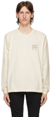 Nudie Jeans Off-White Logo Bodie Long Sleeve T-Shirt
