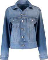 Oscar de la Renta Oversized Embellished Jean Jacket