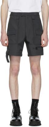 Heliot Emil Black Nylon Cargo Shorts