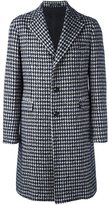 Tagliatore houndstooth patterned coat