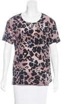 AllSaints Leopard Print Silk Top