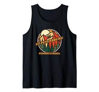 Vintage St Petersburg Pennsylvania Mountain Hiking Souvenir Tank Top