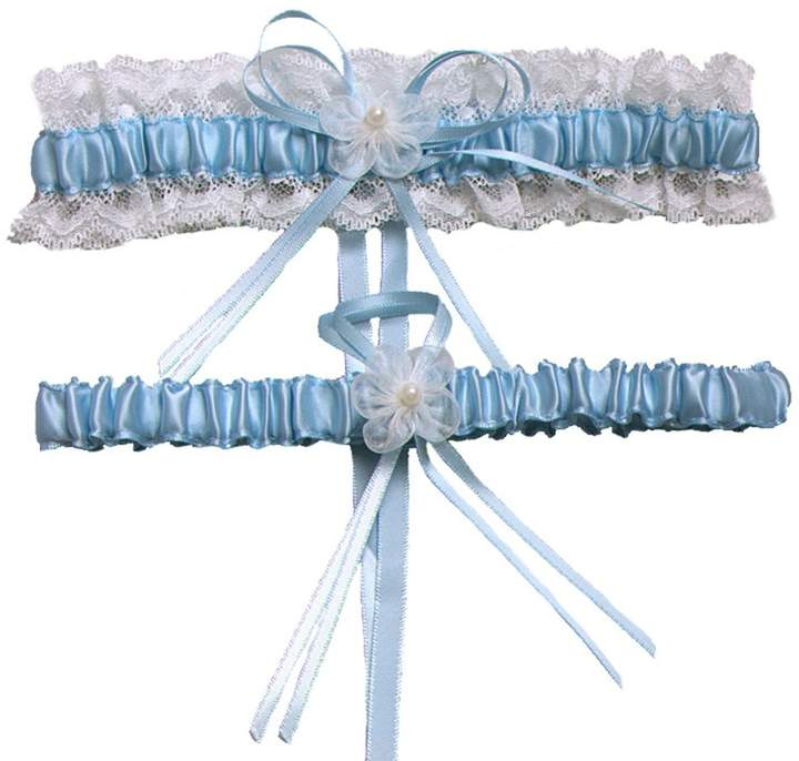 XY Fancy 5 Colors Lace Ruffle Satin Wedding Garter Set of 2 Bridal Garter Belt Toss/Keepsake
