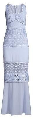 BCBGMAXAZRIA Women's Lace Detail Scoopneck Gown - Size 0