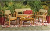 Bed Bath & Beyond 4-Piece Westerly Acacia Wood Deep Seating Chat Set