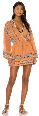 Free People Saffron Embroidered Tunic