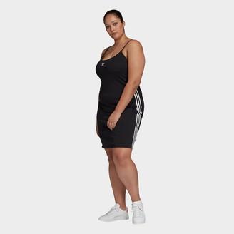adidas Women's 3-Stripes Spaghetti Strap Dress (Plus Size)