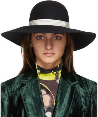 Maison Michel Black Blanche Panama Hat