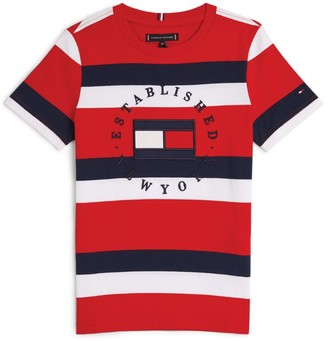Tommy Hilfiger Junior Striped Established In New York T-Shirt (4-16 Years)