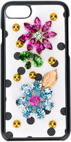 Dolce & Gabbana dot embellished iPhone 7 case - women - Calf Leather/PVC - One Size