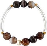 Nakamol Quartz Beaded Stretch Bracelet, Brown