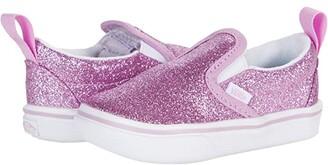 Vans Kids ComfyCush Slip-On V (Infant/Toddler) ((Glitter) Orchid/True White) Girl's Shoes