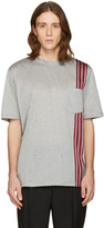Lanvin Grey Stripe Ribbon T-shirt
