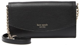 Kate Spade eva leather chain strap wallet