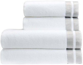 Christy Mode Towel - White/Silver - Hand Towel