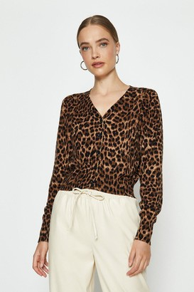 Coast V-Neck Animal Print Cardigan