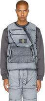 Stone Island Black Down Asymmetric Zip Vest
