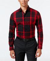 Alfani Men's Slim Fit Blocked Plaid Shirt, Only at Macy's