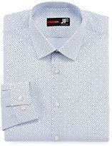 Jf J.Ferrar Stretch Long Sleeve Broadcloth Diamond Dress Shirt