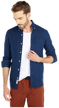 J.Crew Slim Baird Mcnutt Irish Linen Shirt (Ink) Men's Clothing