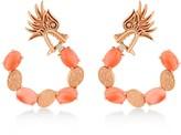 Dragon Optical Selda Jewellery Lady Coral Hoop Earrings