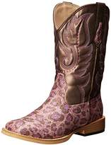 Roper Square Toe Glitter Leopard Western Boot (Toddler/Little Kid),