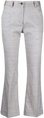 Pt01 Cropped Kick-Flare Trousers