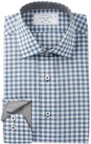 Lorenzo Uomo Heathered Check Trim Fit Dress Shirt