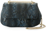 Neiman Marcus Snake-Embossed Faux-Leather Crossbody Bag, Midnight Snake