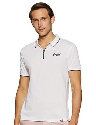 Superdry Men's City Sport Zip Polo Shirt Black A, X-Large