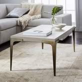 west elm Brass + Concrete Coffee Table