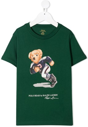 Ralph Lauren Kids Teddy Bear crew-neck T-shirt
