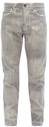 John Elliott The Daze Bleached-denim Straight-leg Jeans - Grey