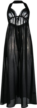 Stella McCartney Semi-Sheer Halterneck Dress