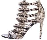 Jason Wu Snakeskin Cage Sandals