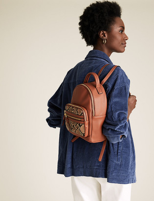 Marks and Spencer Faux Leather Mini Backpack