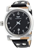 Vestal Men's OB3L001 Observer Silver Leather Watch