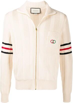 Gucci Interlocking G zipped cardigan