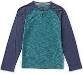 First Wave Boys 8-20 Raglan Henley Shirt