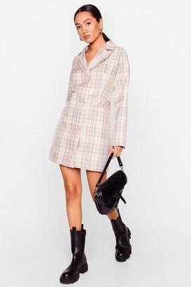 Nasty Gal Womens Trail Blazer Petite Check Dress - Cream