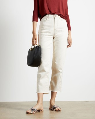 Ted Baker Cotton Cropped Straight Leg Jeans