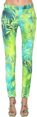 Versace Jungle Print Viscose Cady Pants
