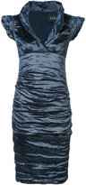 Nicole Miller creased fitted dress - women - Nylon/Polyester/Spandex/Elastane/metal - 0