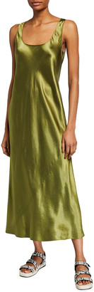 Vince Square-Neck Tank Slip Dress