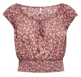 Only Pella Short Sleeve Bow Top