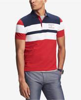Tommy Hilfiger Men's Manuel Custom-Fit Colorblocked Logo-Print Polo