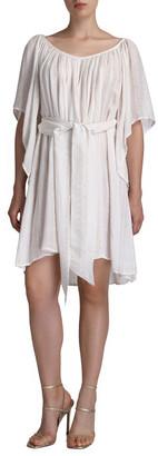 Flora Bella Odysse Beaded Tie-Front Coverup Dress