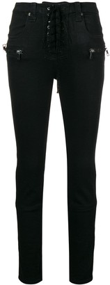 Unravel Project lace-up high waist jeans