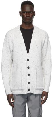 Tibi Off-White Oversized Easy Cardigan