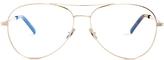 Saint Laurent Aviator metal glasses